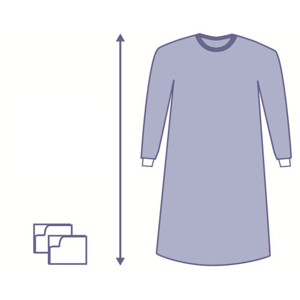 Medline Spunlace Sterile Gown OPS Eclipse XXL – DMS